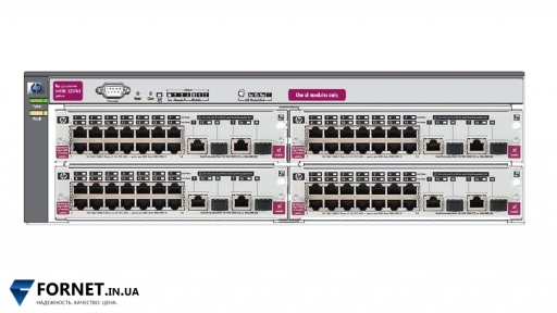 Коммутатор HP ProCurve Switch 5304XL (J4850A + 4xJ4907A / Layer 3, 56x Gigabit RJ-45, 8x Gigabit Combo)