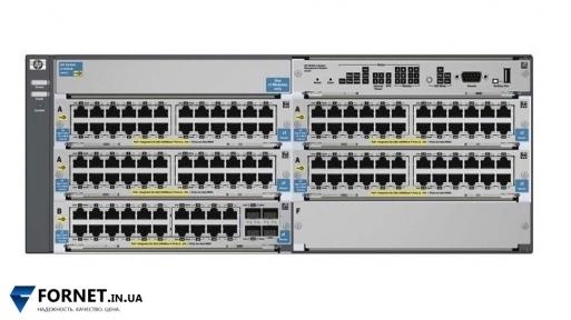 Коммутатор HP ProCurve Switch 5406ZL (J8697A + 4xJ8702A + J8705A / Layer 2, 116x Gigabit RJ-45 PoE, 4x Gigabit SFP)
