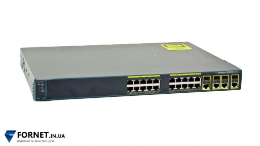 Коммутатор Cisco Catalyst WS-C2960G-24TC-L (Layer 2, 20x Gigabit RJ-45, 4x Gigabit Combo)