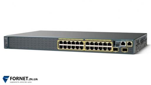Коммутатор Cisco Catalyst WS-C2960S-24TS-S (Layer 2, 24x Gigabit RJ-45, 2x Gigabit SFP)