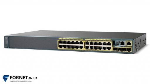 Коммутатор Cisco Catalyst WS-C2960S-24TS-L (Layer 2, 24x Gigabit RJ-45, 4x Gigabit SFP)