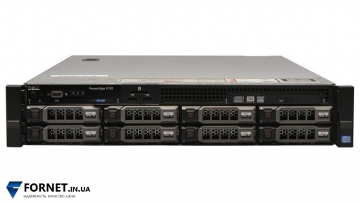 Сервер Dell PowerEdge R720 (2x Xeon Eight E5-2670 2.60GHz / DDR III 64Gb / 2x 600GB SAS / 2PSU)