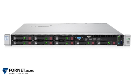 Сервер HP Proliant DL360p Gen9 (1x Xeon Hexa E5-2620v3 2.4GHz / DDR IV 16Gb / P440ar / 2PSU)