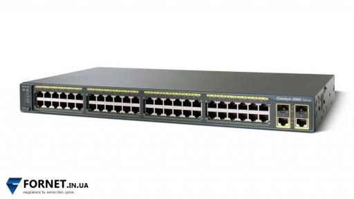 Коммутатор Cisco Catalyst WS-C2960-48TC-L (Layer 2, 48x RJ-45, 2x Gigabit Combo)