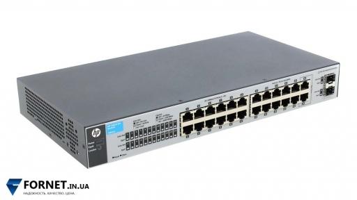 Коммутатор HP ProCurve Switch 1810-24 (J9801A / Layer 2, 22x RJ-45, 2x Gigabit Combo)