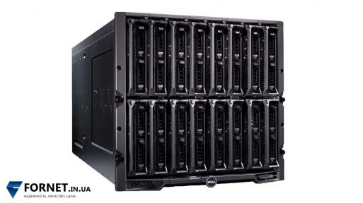 Модульное блейд-шасси Dell PowerEdge M1000e для блейд-серверов (6x PSU / 9x FAN / 2x CMC iKVM / 2x 10G-PTM / 2x M1601P)