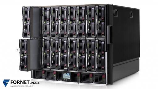 HP BladeSystem c7000 Enclosure (2x Management module, 2x GbE2c, 6x PSU, 10x FAN)