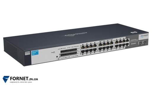 Коммутатор HP ProCurve Switch 1700-24 (J9080A / Layer 2, 22x RJ-45, 2x Gigabit Combo)