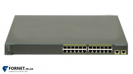 Коммутатор Cisco Catalyst WS-C2960-24TT-L (Layer 2, 24x RJ-45, 2x Gigabit RJ-45)