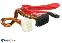 Кабель Mini SAS 36-Pin SFF-8087 to SAS 29-Pin SFF-8482 + питание ( 1 м. )