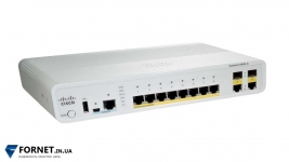 Коммутатор Cisco Catalyst WS-C2960C-8TC-L (Layer 2, 8x  RJ-45, 2x Gigabit Combo)