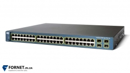 Коммутатор Cisco Catalyst WS-C3560-48PS-S (Layer 3, 48x RJ-45 PoE, 4x Gigabit SFP)